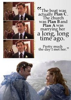 aww Jim and Pam! <3