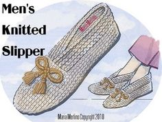 Men's Knitted Slippers By Maria Merlino - Free Knitted Pattern - (voices.yahoo)