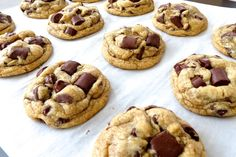 The BEST Chewy, Thick Chocolate Chunk Cookies! You will never need another Chocolate Chip Cookie recipe again!