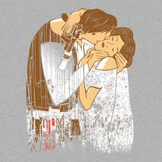 This Star Wars Han and Leia The Kiss t-shirt was inspired by the Gustav Klimt painting The Kiss. Gustav Klimt, Funny Hoodies, Funny Tshirts, Han And Leia, Funny Tank Tops, Cool Graphic Tees, Nerd Humor, Star Wars Art, Funny Design