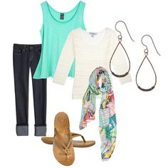 Fun and flirty outfit for spring!  Light sweater for those cool nights.