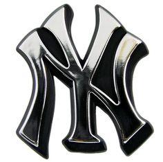 New York Yankees Auto Emblem - Silver
