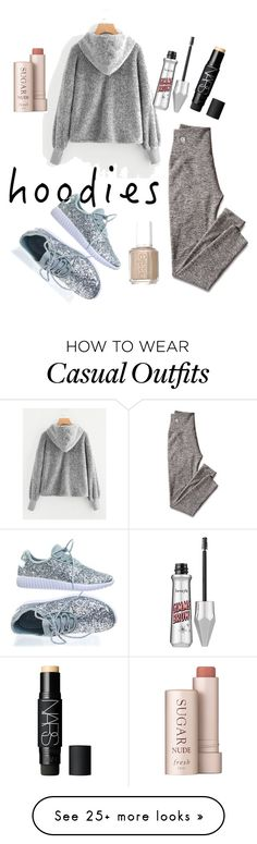 """""""#hoodie #casual"""" by prettygirl-beautifullife on Polyvore featuring Essie, Fresh, Mark & Graham, Forever Link, NARS Cosmetics and Hoodies"""
