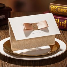 Marvelous Light Champagne Golden Free Personalized & Customized Printing Wedding Invitations Cards 50pcs/lot Free Shipping