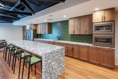 Green Office Kitchen Tiles | Fireclay Tile | Fireclay Tile