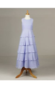 Sweet Sleeveless Chiffon Wedding/Evening Flower Girl Dress