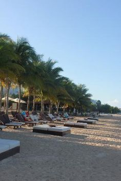 Secrets Aura Cozumel:                   Great beach with comfy chairs