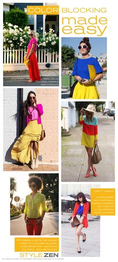 Perfect way to learn how to color block from StyleZen! #colorblocking