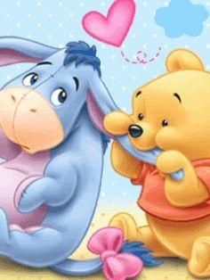 "Baby Winnie the Pooh Chewing on Baby Eeyore's Ear. ""Winnie the Pooh and Friends"" Pooh Baby, Winnie The Pooh Drawing, Cute Winnie The Pooh, Winne The Pooh, Winnie The Pooh Quotes, Winnie The Pooh Friends, Eeyore Quotes, Wallpaper Iphone Disney, Cute Disney Wallpaper"