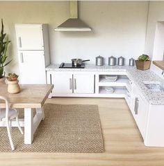 Modern Corner Kitchen ... #frihetensarv, www.frihetensarv.no, diy, dollhouse, design