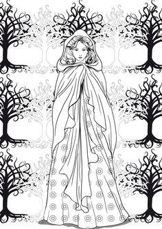Image à colorier dame médiéval http://www.papa-blogueur.fr/coloriages-et-activites-a-imprimer-de-la-bretagne