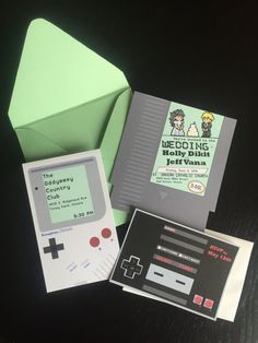 Hey, I found this really awesome Etsy listing at https://www.etsy.com/ca/listing/262783866/unique-nintendo-gameboy-wedding