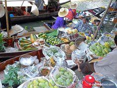 Thai Market Damnoen Saduak auf dem Fluss Thailand, Cobb Salad, Marketing
