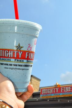 Blue skies and a blueberry shake.