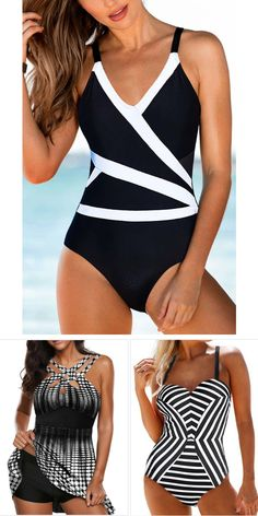 Great recommended sexy one piece trendy tankini swimwear, printed swimdress for women, cute and comfy, worldwide and easy returns, Summer Bathing Suits, Cute Bathing Suits, Tankini, Womens Dress Suits, Vintage Swimsuits, Plus Size Kleidung, Plus Size Swimsuits, Moda Fitness, Swimwear Fashion