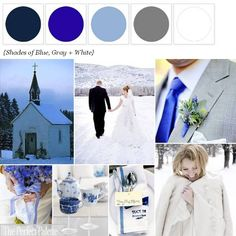 The Perfect Palette: {Sweet Snowy Chapel}: Shades of Blue + White