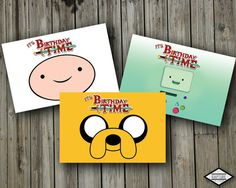 Adventure Time Personalized birthday party invitations by realengo