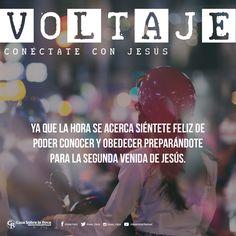 Se acerca siéntete feliz de conocer y obedecer preparandote para la segunda venida de Jesús #InsightJesus http://devocional.casaroca.org/jv/01oct