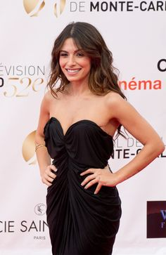 Sarah Shahi in a gorgeous dress