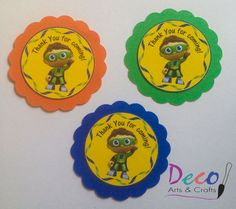 Super Why Party Thank You Tags, Favor Tags, 12 Ready-to -Ship on Artfire.