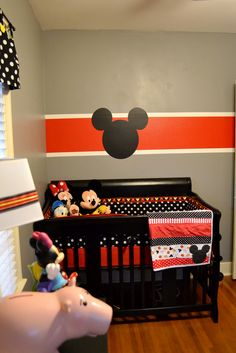 Mickey & Minnie should have did this for savannah's room since red and blk is what babies see when they are little