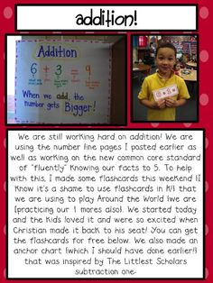 Additon Anchor Chart