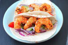 Light and Healthy Shrimp Tacos - Foodista.com