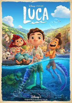 Luca Disney Pixar Print - Disney Poster, Disney Print, Disneyland Poster, Disneyland Print, Movie Po