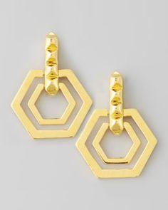 Y1EA7 Eddie Borgo Small Edie Hexagonal Earrings