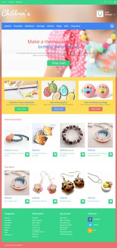 Prestashop template #jewelry #clothing #ecommerce #flat #responsive