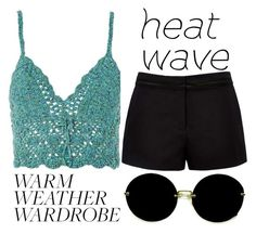 """""""warm weather wardrobe"""" by j-n-a ❤ liked on Polyvore featuring Topshop, Forever New, Miu Miu and heatwave"""