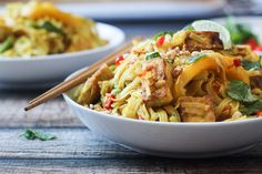 Tofu Curry Noodles with Vegetables - The Wanderlust Kitchen