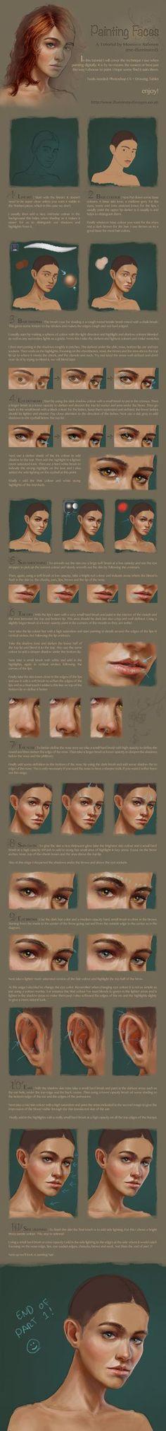 Digital face / portrait painting tutorial part 1 by *me-illuminated on deviantART
