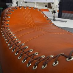 TheHogRing.com 20 mins ·  Lacing work by @customstitchingco / #autoupholstery #autotrim #carinterior #upholstery #thehogring