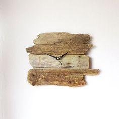 Driftwood Clock  Wall Beach Clock  Recycled Wood  by NaturalClocks, £28.00