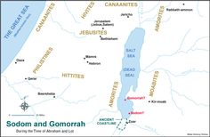 Sodom and Gomorrah map Bible Notes, Sodom And Gomorrah Map, Abraham And Lot, Bible Software, Bible Mapping, I Am Statements, Ancient Near East, Cards