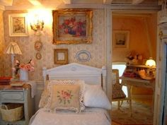 lovely French dollhouse bedroom detail