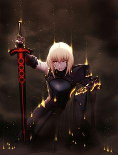 Corrupted Saber. Fate/GO