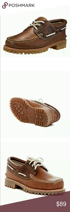 Timberland Icon Three-Eye Brown Men's Boat Shoes 100% Authentic timberland boots   Description Brand: Timberland Pro Style: Icon Three-Eye Model: TB0A17MYD43 Color: Medium Brown Comes in Original Box 100% Brand New and Authentic New in box Timberland Shoes Boat Shoes