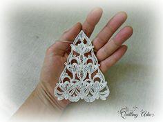 Set di 3 ornamento di natale ornamento-fiocco di di PaperArtbyAda