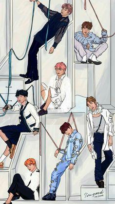 BTS Love Yourself: Answer version E wallpaper lockscreen Bangtan Bts Jungkook, Taehyung, Bts Wallpapers, Bts Backgrounds, Fanart Bts, Vkook Memes, Bts Love Yourself, Bts Lockscreen, Wallpaper Lockscreen