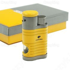 Best Price Europe Buyer Cohiba Metal Gas Butane 4 Torch Jet Flame Cigar Lighter With Punch Cigarette Windproof Lighters Gift Box #Europe #Buyer #Cohiba #Metal #Butane #Torch #Flame #Cigar #Lighter #With #Punch #Cigarette #Windproof #Lighters #Gift