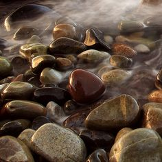 Rocks - I can feel the cool, smooth surfaces in my mind