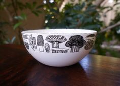 Small Finel Vintage Mushroom Bowl Designed by Kaj Franck, Made in Finland, Enameled Bowl 5.5 Inch Diameter, Mid Century Designer on Etsy, $66.15