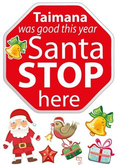 smartwalling, wall decals - Personalised Santa Stop Here  Wall Decal - Totally Reusable, $9.99 (http://www.wholesaleprinters.com.au/personalised-santa-stop-here-wall-decal-totally-reusable)