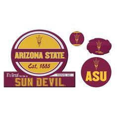 Arizona State Sun Devils Game Day 4-Piece Magnet Set, Multicolor
