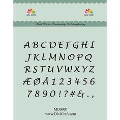Dixi Craft Die - Alfabet (store bogstaver