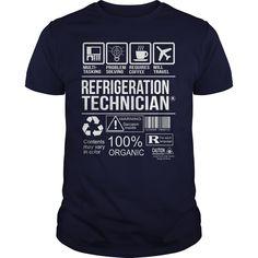 Awesome Shirt For Refrigeration Technician T-Shirts, Hoodies. GET IT ==► https://www.sunfrog.com/LifeStyle/Awesome-Shirt-For-Refrigeration-Technician-Navy-Blue-Guys.html?41382