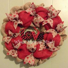Valentine wreath by: Wheat State of Mind. Look for it on Facebook.