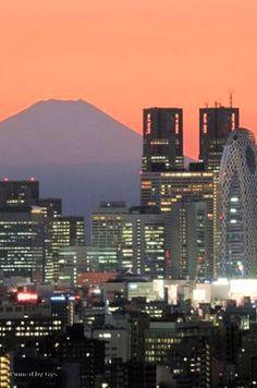 Sunset in Tokyo, Japan